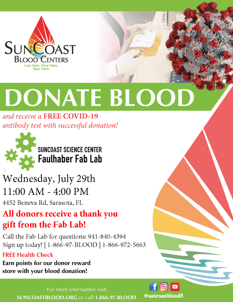 Suncoast Science Center Suncoast Blood Bank Blood Drive