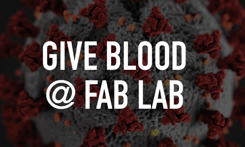 Give blood at Fab Lab Suncoast Blood Bank Blood Drive